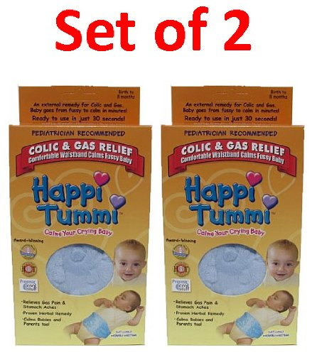 Set of 2 Colic and Gas relief Herbal waistband-Blue