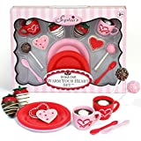 18 Inch Warm Your Heart Doll Accessories Food Set Perfect for the American Baking Girl. Includes Hot Cocoa, Cake Pops, Cookies and More Mini Doll Food by Sophia's, 12 piece set