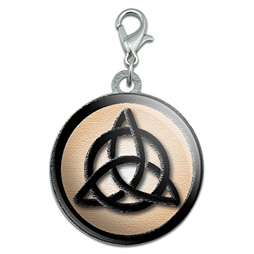 Celtic Triquetra Circle Knot Irish Stainless Steel Pet Dog ID Tag