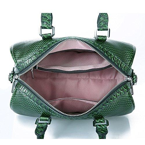 europeo y bolsa Bolso hombro superior forma almohada Boston Bolso de de de A de americano asa de mujeres Bolso cuero viaje con para de moda con de ZaqHr7Zw