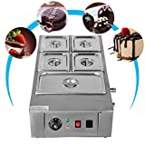 VEVOR 1KW Electric Chocolate Melting Pot Machine 5 Tanks 26.45lbs Capacity Commercial Home Electric Chocolate Heater Electric Chocolate Melter for Bakeries Cafes and Chocolate Fountains(5 Tanks)