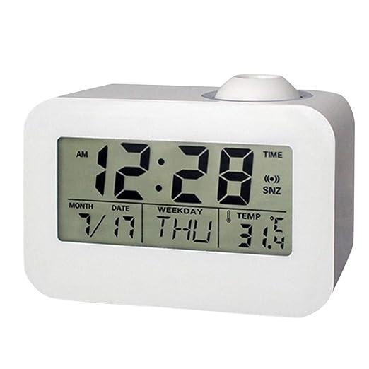 haolinhua Reloj Digital Proyector LCD Electrónico Despertador Hora ...