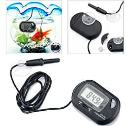 HDE Digital Salt Water Aquarium pH Meter and Marine LCD Thermometer with TDS Water Quality ppm Meter Pen (Black)