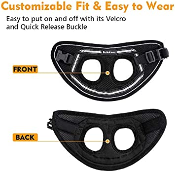 rabbitgoo Cat Harness and Leash Set for Walking Escape Proof Black Chest:12.0-14.5 M Adjustable Soft Kittens Vest with Reflective Strip for Small Cats Step-in Comfortable Outdoor Vest Harness