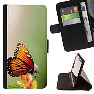 Jordan Colourful Shop - wings butterfly flower green For Samsung Galaxy S4 IV I9500 - Leather Case Absorci???¡¯???€????€???????&bdquo