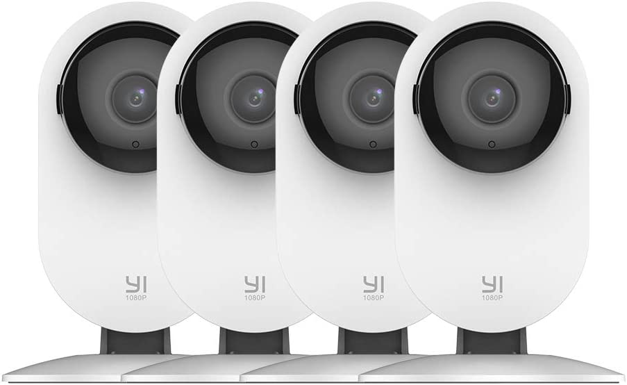 YI 4pc Home Camera, 1080p Wi-Fi IP Security Surveillance Smart System with 24 7 Emergency Response, Night Vision, Baby Monitor on iOS, Android App – Cloud Service Available