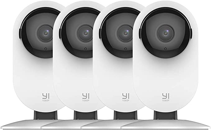 Amazon.com: YI 4pc Home Camera, 1080p Wireless IP Security Surveillance System with Night Vision, Nanny Monitor on iOS, Android App, Cloud Service - Works with Alexa and Google Assistant: Home Improvement