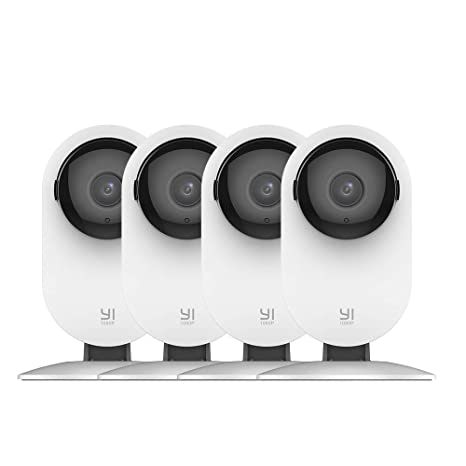 YI 4pc Home Camera, 1080p Wi-Fi IP Security Surveillance Smart System with  24/7 Emergency Response, Night Vision, Baby Monitor on iOS, Android App -