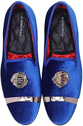 Royal blue mens loafers _image0