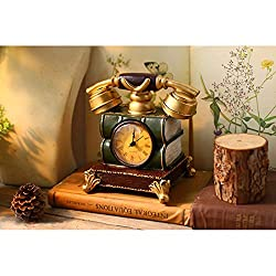 BAOLH Wall Clock Resinous Classic Clock Piece Handicraft Dual- USE Saving Pot for Home Decoration (Color : Brown)
