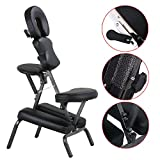 Black New PU Massage Portable Massage Chair Tattoo Spa Free Carry Case Bonus free ebook By Allgoodsdelight365