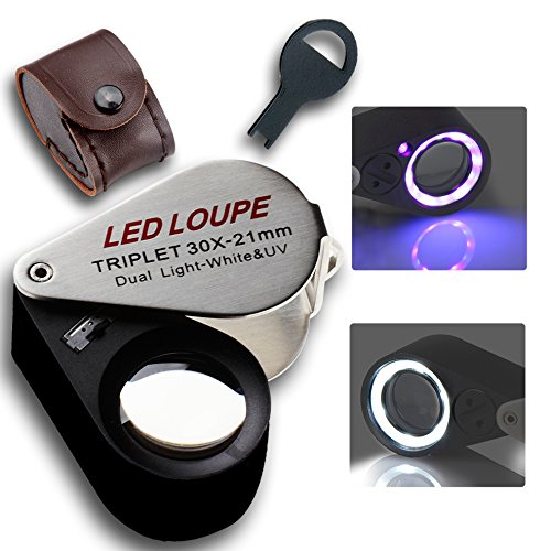 easylifeproduct 30x Magnification Jeweler Loupe Triplet L...