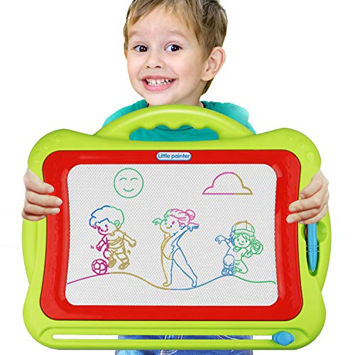 Meland Magnetic Drawing Board - Kids Magna Drawing Doodle Board Erasable Writing Sketch Board Pad Upgrade Version Green, Education Learning Doodle Toys for Boys Girls Age 3 4 5 6 7 8 9 and up