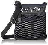 Calvin Klein Tabbie Nylon Multi-Pocket Organizational Crossbody,  Navy, One Size