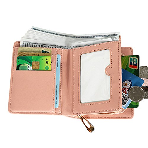Wallet Leather Short Credit PU Black Women's Card Coin Purse Hasp Holder Kukoo wIfCOBqB