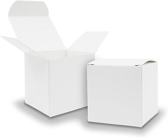 25 X itenga Cubo Caja de cartón 5 x 5 cm Blanco caja de regalo para rellenar (boda invitados. Calendario de Adviento. Bautizo. Cumpleaños. regalo. Comunión): Amazon.es: Hogar