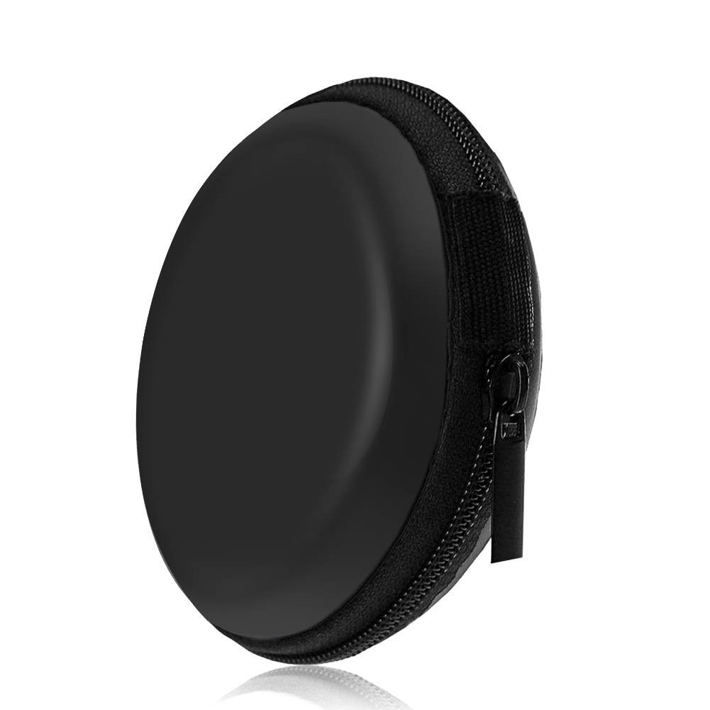 Hosaire Estuche para Auriculares en la Bolsa Protectora para los O/ídos Cremallera EVA Mini Estuche Redondo para Negros