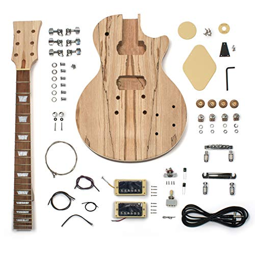 StewMac Build Your Own DYI LP-Style Electric Guitar Kit, with Spalted Maple Top