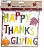 Thanksgiving Fall Gel Sticker Window Clings