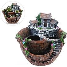 bestoyard Mini guirnalda de jardín y dulce casa para decoración flores plantas Bote Creative Plantas Bote