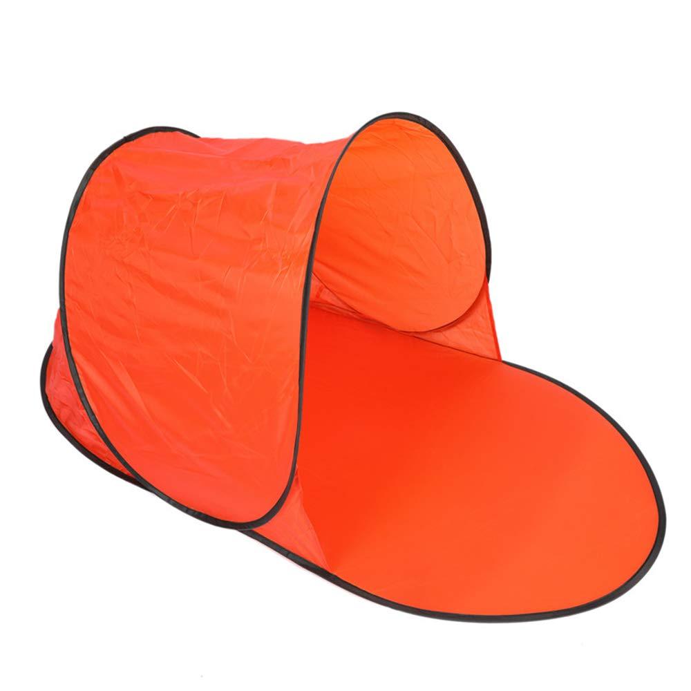 Fokine シングル蚊帳 インスタントポップアップテント ビーチシェルター キャンプ ハイキング サンシェードカバーテント アウトドア シーサイド ハイキング シーサイド 旅行 旅行 裏庭 バックパッキング オレンジ B07GQLQP6T, Silk de Smile:e331ff20 --- ijpba.info