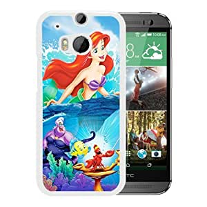 DIY and Nice HTC ONE M8 Phone Case Design with The Little Mermaid disney princess White Cover by mcsharks