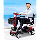 Portable Mobility Scooter for The Elderly,Foldable 20 Amp Lithium Battery -Endurance 30 Km