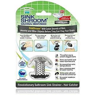 SinkShroom Ultra Revolutionary Bathroom Sink Drain Protector, Stainless Steel
