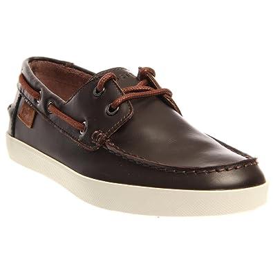 Lacoste Men's Keellson Pre Dark Brown Boat Shoe 10.5 D