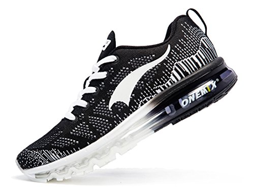 Cushion Sport Shoes White Air Running White Black Casual Black Outdoor Lightweight Sneakers ONEMIX Womens RYHqxE