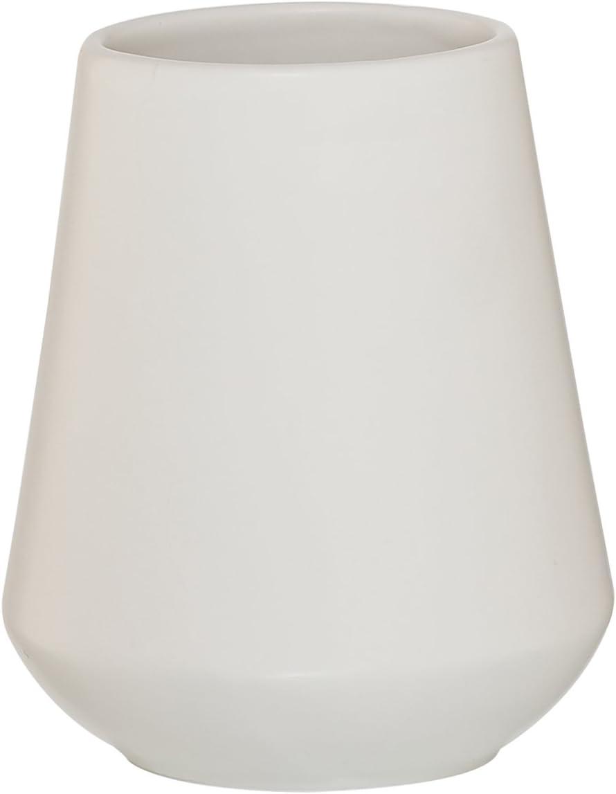Blanco Sealskin Vaso para Cepillo de Dientes Conical Porcelana 9.5 x 9.5 x 11.1 cm