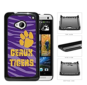 Geaux Tigers School Spirit Slogan Chant HTC one M7 Hard Snap on Plastic Cell Phone Cover by lolosakes