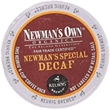 Newman's Own Organics -- SPECIAL DECAF COFFEE -- 96 K-Cups for Keurig (4 boxes of 24 K-Cups each)