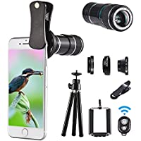 Telephoto lens kit, 4 in 1 Cell Phone Camera Lens, 12X...