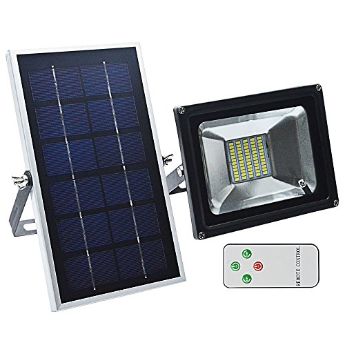 GLW LED Solar Lights, Remote Control Outdoor Security Flood Light, 350 Lumen, IP65 Waterproof Solar Spotlight with Auto-induction for Front Door, Garden,Patio,Back Yard,Solar Powered Lights by GLW