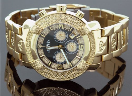 Aqua Master Mens Diamond Watch Hip Hop Jewelry 96-61