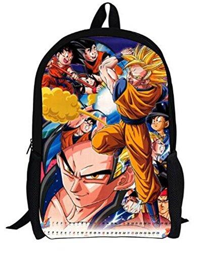 YOYOSHome Dragon Ball Z Anime Goku Cosplay Messenger Bag Rucksack Backpack School (Dragon Ball Z Wigs)