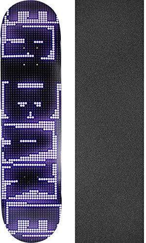 第三ブラウザ見る人Baker Skateboards Rowan Zorilla ブランド名 LED スケートボードデッキ - 7.75インチ x 31.25インチ ブラックマジックグリップテープ付き - 2点セット
