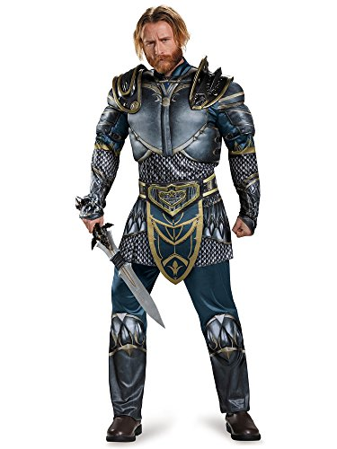 (Disguise Men's Warcraft Lothar Muscle Costume, Multi,)