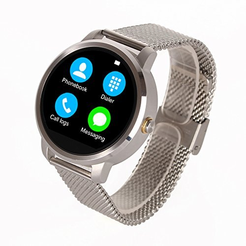 Amazon.com: Bluetooth Android smart watch with Siri function ...