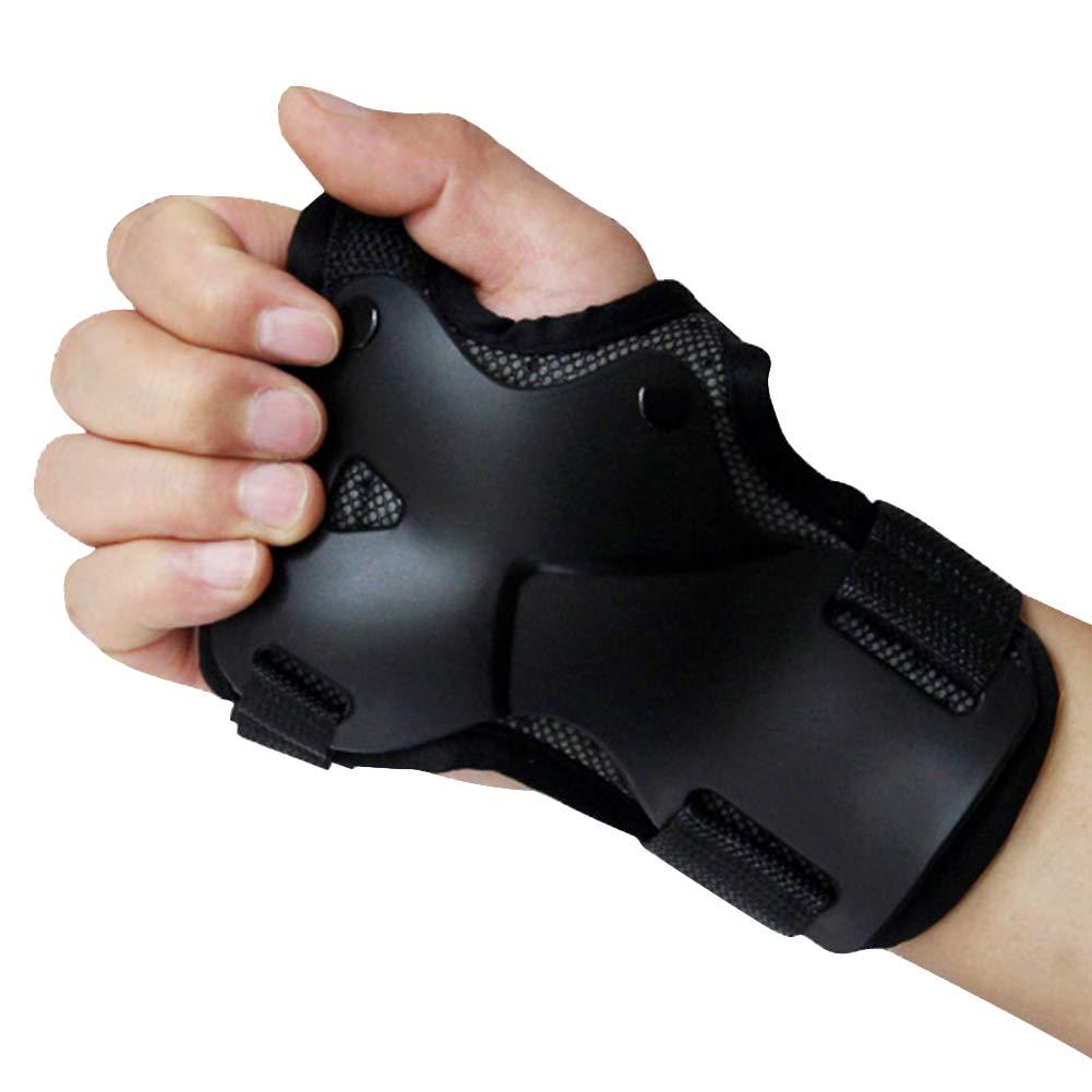 Amyove 1 par de mu/ñequeras Unisex Son compatibles con el Protector Palm Pads para Patinaje en l/ínea de Snowboard de esqu/í L Macho