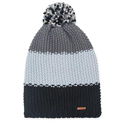 LETHMIK Pom Pom Slouchy Beanie,Winter Mix Knit Ski Cap Skull Hat for Women & Men