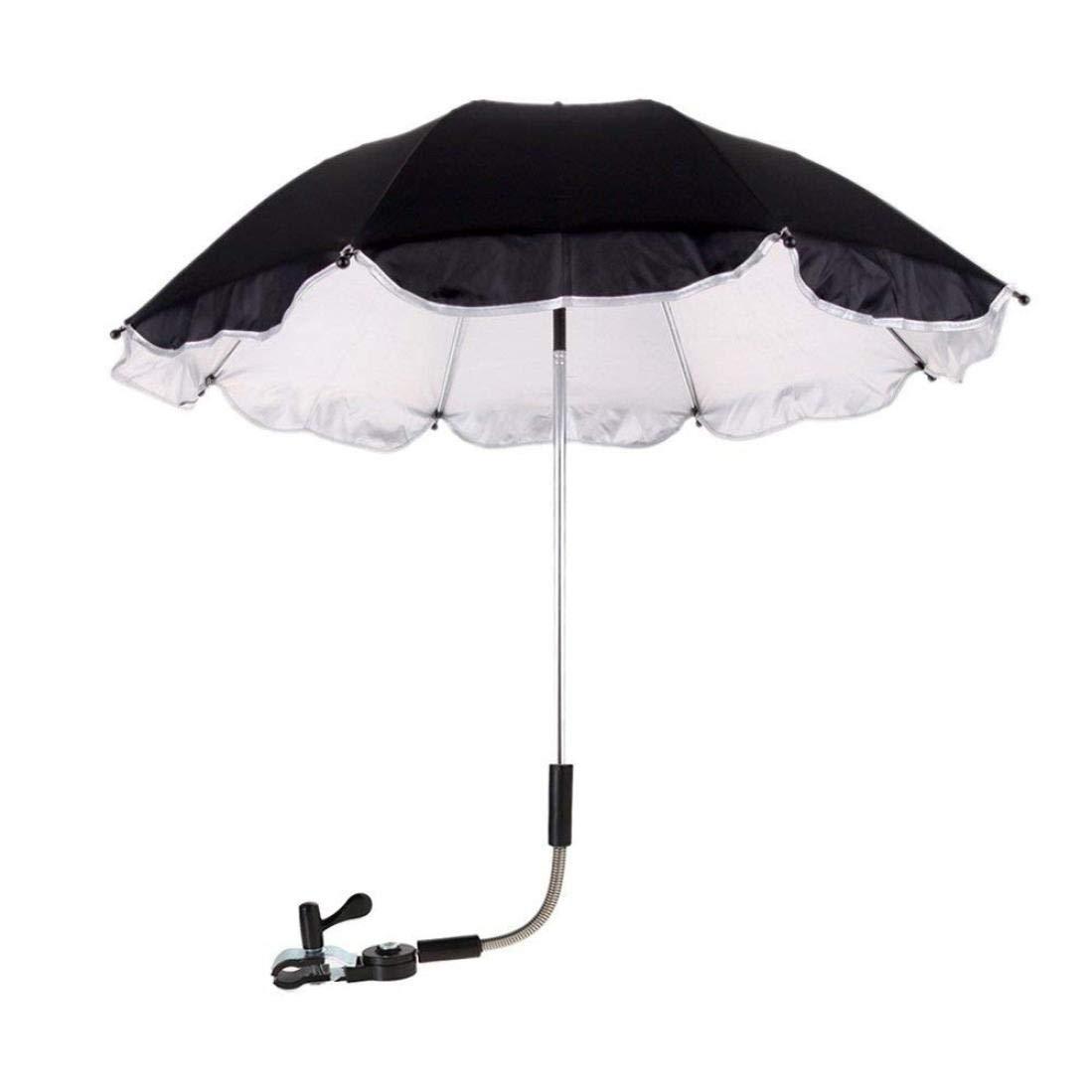 Hatoys Stroller Weather Shield Stroller Cover Parasol for Sun Rain Protection UV Rays Outdoor Umbrella (Black)