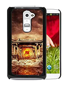 Beautiful And Unique Designed With Temple Fire Mountains Birds Flying Water For LG G2 Phone Case