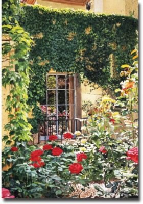 Afternoon in the Rose Garden by David Lloyd Glover, 22x32-Inch Canvas Wall Art (David Lloyd Glover Garden)