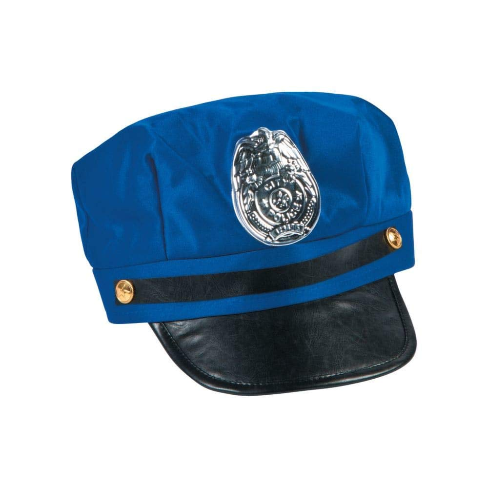 ebade838ebd Amazon.com  Kids Blue Police Hat by Fun Express  Toys   Games