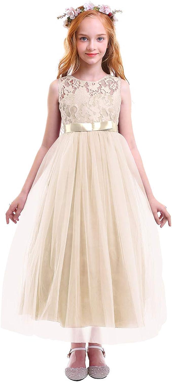 Mädchen Kinder Mit Kleider Blumenmädchenkleider Hochzeitskleid Maxikleid  Festlich Brautjungfern Kleid Prinzessin Hochzeit Abendkleid Party Maxi  Kleid