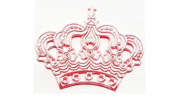 Parche para niños con diseño de corona rosa real y reina de ...