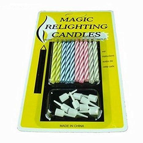 Amazon.com: cooplay 2 – Conjunto 20pcs Magic relighting Vela ...