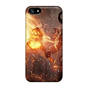 Rgwens Case Cover For Iphone 5/5s - Retailer Packaging Fire Monster Protective Case